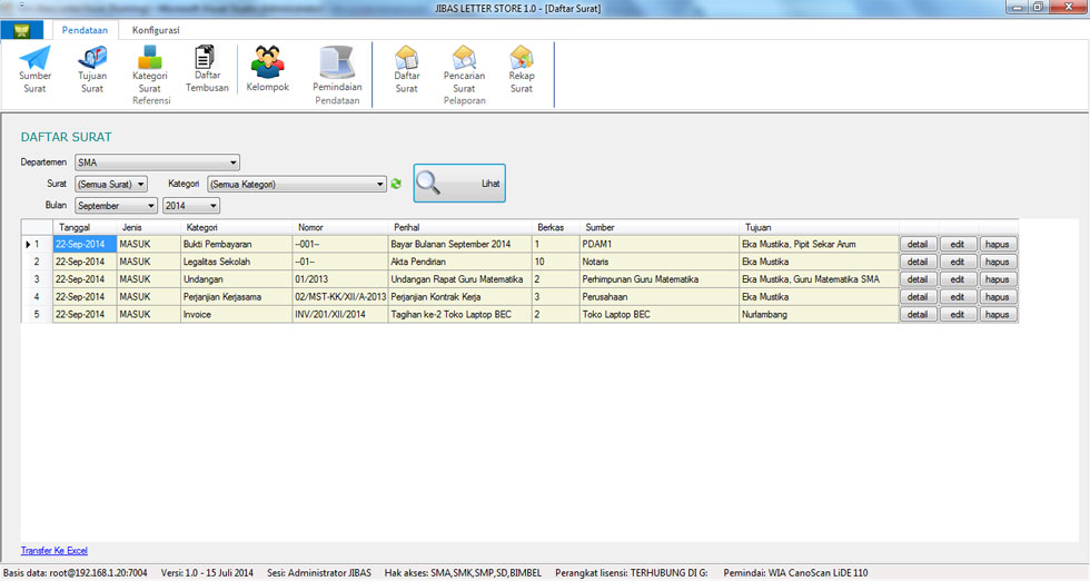 Sistem Informasi Sekolah Jibas